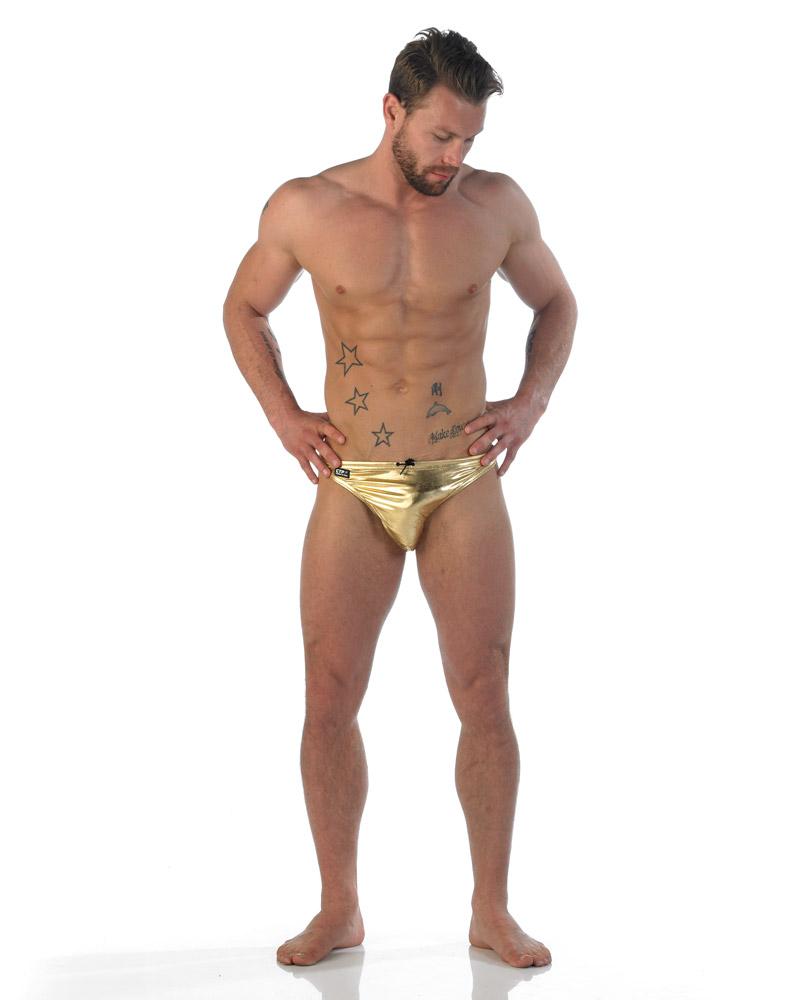 bfb0d751531 Mens Swim Brief - Gold - Swimming brief for men